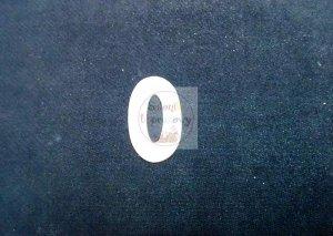 Cyferka drewniana biała 0 - 1szt
