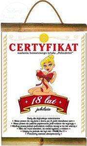 Dyplom Bambus Certyfikat Pełnoletniego Jubilata