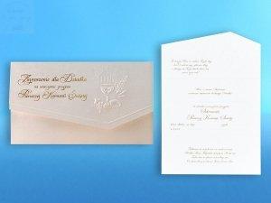 Zaproszenie komunijne srebrne dla Dziadka 1szt