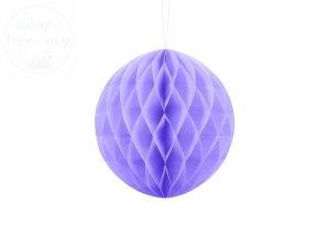 Kula bibułowa liliowy 20 cm
