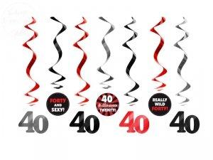 Świderki urodzinowe 40 urodziny 7szt