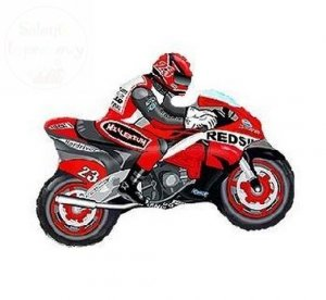 Balon foliowy 24 cale czerwony motocykl