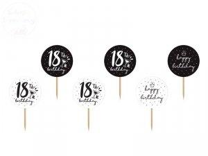 Dekoracje do muffinek 18 urodziny.