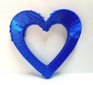 Serce styropianowe duże w kolorze niebieski królew