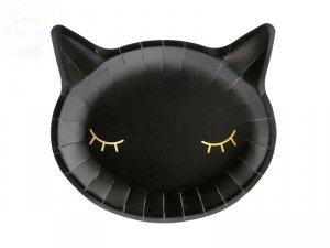 Talerzyki kotek czarny - 6 szt