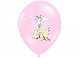 Balony 14 cli różowy Słonik