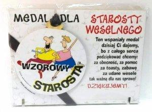Medal podstawka dla  Wzorowego STAROSTY