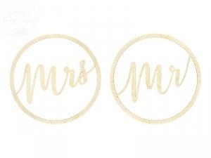 Zawieszki dekoracyjne Mr, Mrs 38 cm