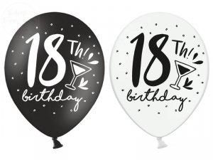 Balony 18th!  brithday - 30 cm