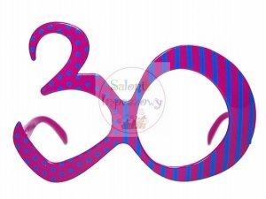 Okulary party 30 lat 1 szt OKR9-30
