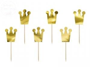 Dekoracje do muffinek Princcess - korony