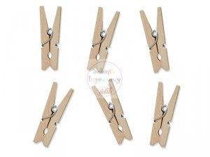 Klamerki  drewniane naturalnym 10 szt