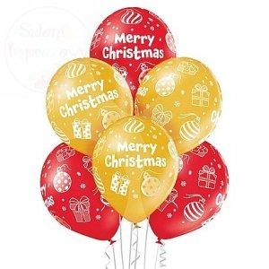 Balony 12 cali Merry Christmas 1 szt mix kolor