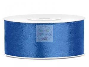 Tasiemka satynowa królewski niebieski 25mm/25m