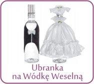 Ubranka na wódkę weselną