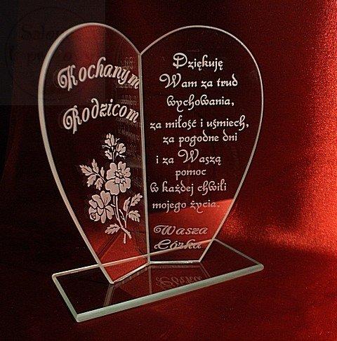 Statuetka serce podziękownie dla rodziców