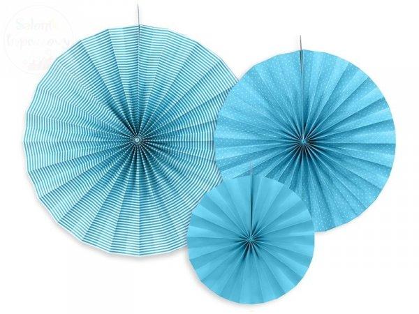 Rozety dekoracyjne niebieskie 3 szt RPK1-080