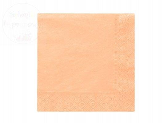 Serwetki 3 wartswowe 33x33 łososiowe 20 szt 010714