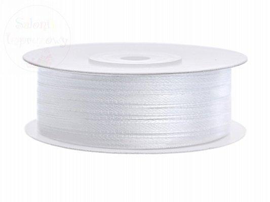 Tasiemka satynowa biala 3mm/50 m