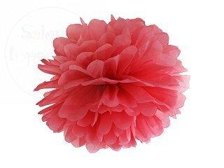 Pompon bibułowy, czerwony 35cm 1szt