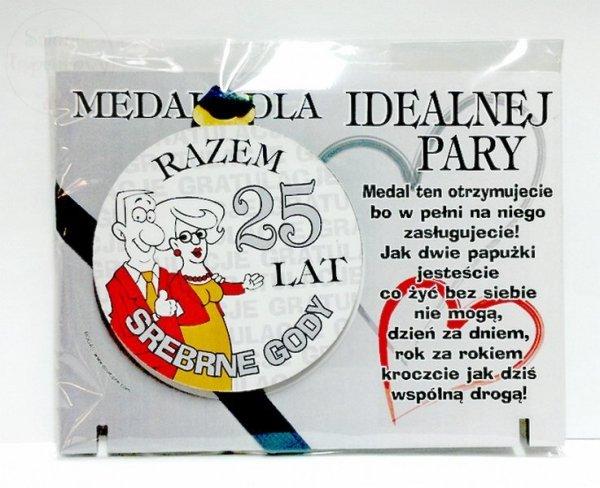 Medal podstawka 25 Rocznica ślubu