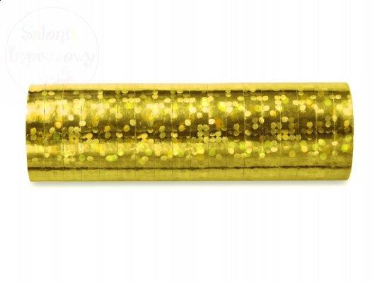 Serpentyna holograficzna złota 18 rolek