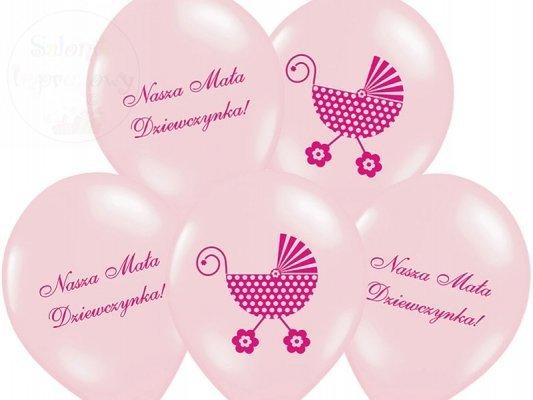 """Balony różowe 14cali """"Nasza Mała Dziewczynka"""" - 1s"""