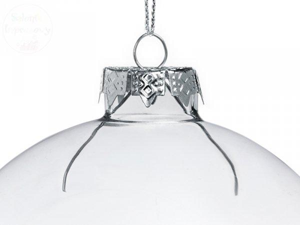 Bombka szklana, bezbarwna 10 cm - 1szt