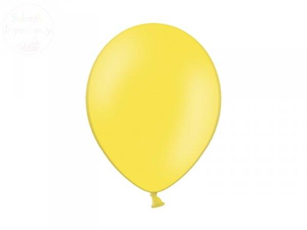 Balony pastelowe 10 cali - 23 cm cytrynowe