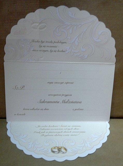 Zaproszenie ślubne z brokatem + koperta 1szt