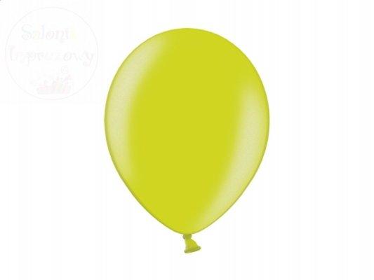 Balony 12 cali jasnozielone metalik - 1 szt