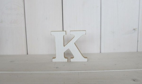 """Litera drewniana wys. 18 cm """"K"""" 1szt"""