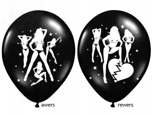 """Balony czarne  """"Seksowne balony..."""" na kawalerski"""