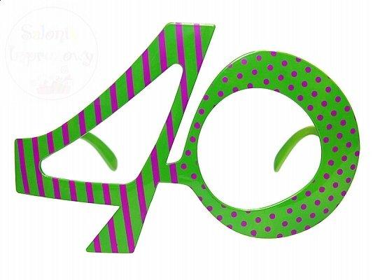 Okulary party 40 lat 1 szt OKR9-40
