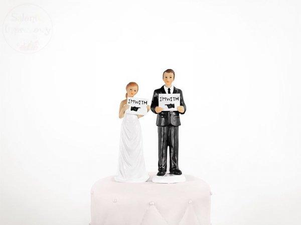Figurka Para Młoda na tort  I' m With