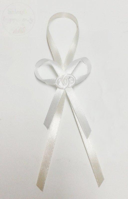 Zawieszki na alkohol kremowo-białe z białą obrączk