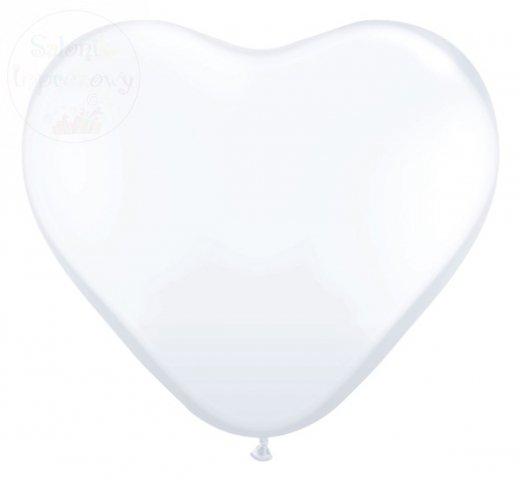 Balony serca białe 10 cali 1 szt 091M