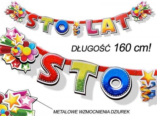 Baner urodzinowy STO LAT 160cm BR1