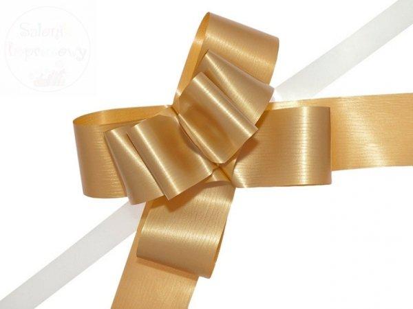 Wstążka ściągana 5cm złota