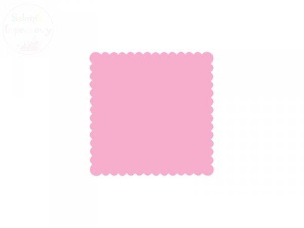 Serwetki 1 warstw 15x15cm jasnoróżowe 200szt