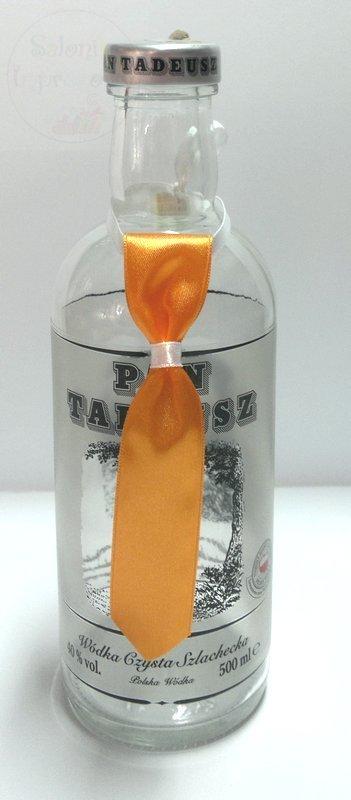 Zawieszki na wódke podwiązka+krawat pomarańczowe
