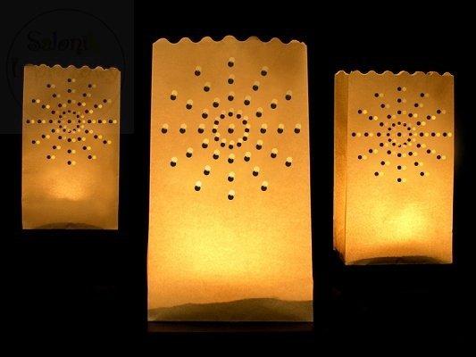 """Lampion, torebka na świece """"słońce"""" 15x9x26cm 1szt"""