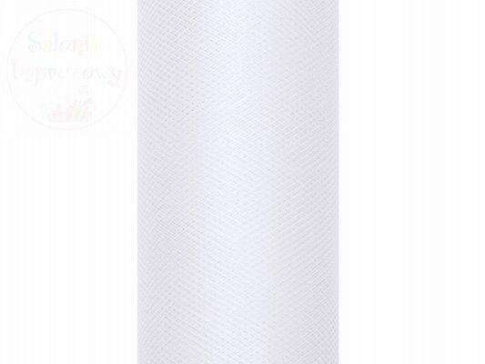 Tiul na szpulce 50cmx9m biały