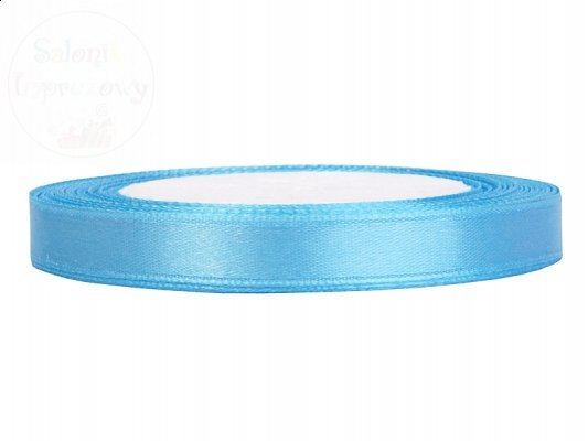 Tasiemka satynowa błękit 6mm/25m
