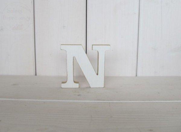 """Litera drewniana wys. 18 cm """"N"""" 1szt"""