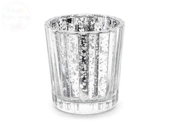 Świecznik srebrny wysokość ok 6 cm