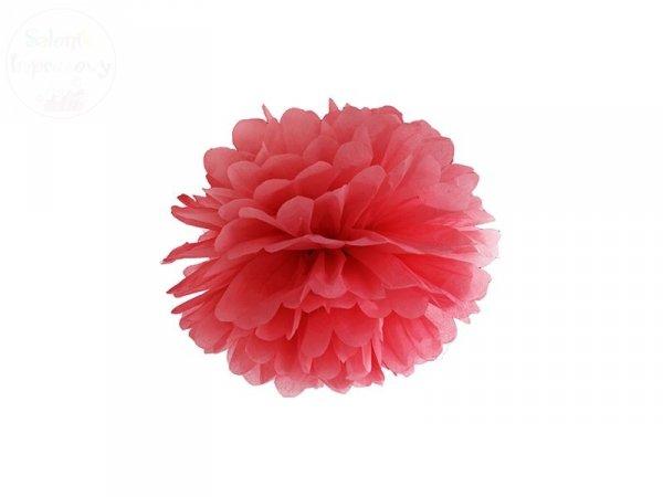 Pompon bibułowy czerwonym  25cm 1szt