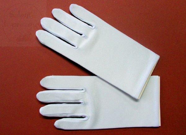 Rękawiczki komunijne dla chłopca z lycry matowej
