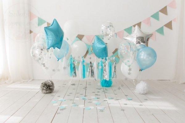 Balon foliowy Gwiazdka błękitny 48 cm