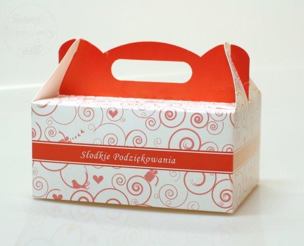 Pudełko, opakowanie na ciasto - malinowe 1szt